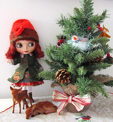 Merry Christmas! (twinkle_moon_bunny) Tags: christmas river deer fawn blythe gentle