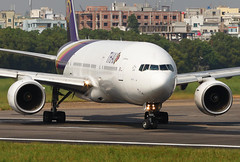 HS-TJG Boeing 777-2D7 Thai Airways Lining Up for Take Off (Faisal Akram Ether) Tags: up for airport off international thai take dac dhaka boeing airways lining hazrat shahjalal hstjg vghs 7772d7