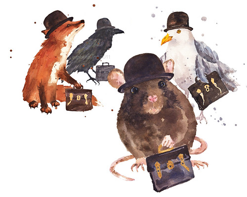 Animals in Bowler hats