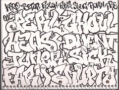One pen. One page. One shot. Part 2 (Heavy Metal Gang) Tags: train graffiti pre owl setup sws kero slugs aa lts dement perl fs tvc blt ghoul wh gtb nsf dck ronin dtt fram stv fokis juner tge a2m hews erupto327 kcw dment rtz sick156