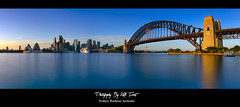 Sydney Harbour Australia Long Exposure Panorama (Kiall Frost) Tags: ocean city longexposure bridge sea water skyline landscape cityscape harbour sydney australia le nsw operahouse northsydney kirribilli sydenyharbour kiallfrost