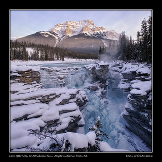 Late afternoon at Athabasca Falls, Jasper National Park, Alberta