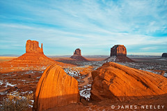 Mittens Advised (James Neeley) Tags: arizona landscape utah monumentvalley mittens navajotribalpark jamesneeley