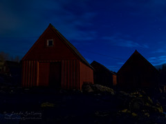 Down by the boat houses at night (frosol) Tags: norway night canon nightshot harbour shore powershots100