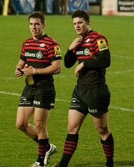 Chris Wyles and Duncan Taylor (phillipbonsai) Tags: saracens rugbyunion salesharks