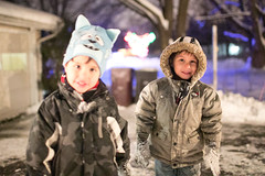 20121228_86794 (AWelsh) Tags: winter boy snow ny cold boys kids night yard children outside twins toddler child outdoor twin rochester toddlers highiso andrewwelsh 12800 25600 canon5dmkiii 5dmk3 5d3