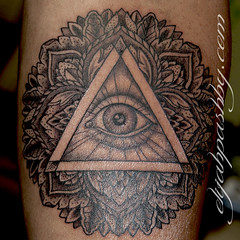 all seeing eye mandala tattoo (Elijah Pashby) Tags: eye tattoo mandala tattoos dots allseeingeye blackandgray blackandgrey dotwork