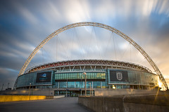Wembley Stadium (Matt Burrard-Lucas) Tags: sunset london architecture stadium lee nd mbl wembley wembleystadium neutraldensity bigstopper mattburrardlucas
