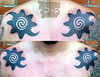 Rosettes with double spiral in rotated forms (durgatattoo) Tags: tattoo indonesia traditional tribal borneo custom tato tribalism dayak nusantara mentawai handtapping