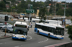 State Transit Authority (Sydney Buses) Mercedes O405NHs 1373 and 1202 turning in Victoria Road at The Crescent, White Bay, Sydney, N.S.W. Australia. (express000) Tags: mercedes mercedesbenz nswaustralia sydneybuses busesinaustralia statetransitauthority australianbuses mercedeso405nh mercedesbuses mercedesbenzbuses whitebaynsw whitebaynswaustralia