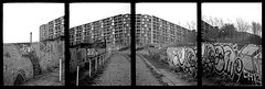 Park Hill Flats tetraptich (pho-Tony) Tags: park urban color colour building english heritage film architecture modern 35mm jack graffiti hill modernism smith grade ishootfilm lynn negative credit le ii frame half vista analogue 24mm splash halfframe agfa 72 luxury crunch yashica slum parkhill 18x24 corbusier listed refurbishment 18mm ivor listing poundland c41 yashinon parkhillflats mimy filmisnotdead unité dhabitation tetenal yashicamimy 18mmx24mm 72exposures