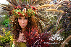 Fairy Court (Alexandria LaNier) Tags: beautiful fashion fairytale garden costume designer feathers dream exotic fairy fantasy masquerade comiccon magical fairycourt alexandrialanier