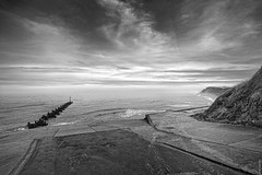 West Runton (Nick J Stone) Tags: sea west fall water mono coast chalk fishing sand tide norfolk shingle cliffs erosion clay mammoth ram runton img8128