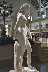 Hiram Powers (1805-1873) - California (1850-1858) right, night, Metropolitan Museum of Art, New York, Sep 2012 (ketrin1407) Tags: sculpture statue female naked nude erotic marble allegory metropolitanmuseum symbolism sensuous hirampowers 19thcenturysculpture