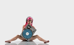 Another music themed shoot with Alexis (awallphoto) Tags: alexis pink arizona portrait music records 35mm hair asian az olympus 100mm turntable turntables record headphones ft hiphop f2 pinkhair zuiko 43 omd akg shg bwfilter zd fourthirds awall em5 35100mm aaronwallace arizonahiphop awallphoto awallphotocom