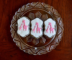 Mama & Baby Giraffe Baby Shower Cookies