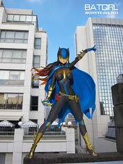 Batgirl statue in ANIME style (mixnuts club) Tags: statue fetish comics dc barbara gordon figure heroine batman batgirl rubbersuits