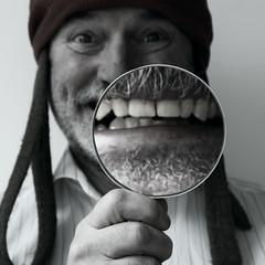 smile (Kalense Kid) Tags: smile teeth magnifyingglass daft