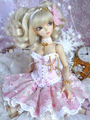 La Vie en Rose (~ Eglantine ~) Tags: pink virginia doll dress sweet handmade lolita corset bjd fairyland msd minifee rheia