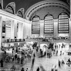 Grand Central Terminal-6 (estellerobertnyc) Tags: grandcentralterminal manhattan nyc newyork usa blackandwhite noiretblanc