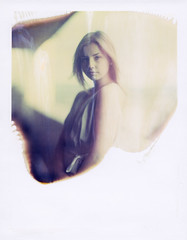 * (derlevi) Tags: portrait girl woman summer light polaroid expired 559