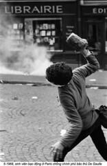 5-1968  Paris riots (5) (ngao5) Tags: 1 adults civilconflict europe europeanhistoricalevent europeans france french frenchhistoricalevent historicevent iledefrance paris parisriots1968 people politicalandsocialissues protester riot rioter student throwing violence youngadults