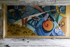 Cosmonaut (Igor) Tags: abandoned decay decayed rust urban forgotten lostplaces urbanexploration ussr cccp sovietunion murals cosmonaut space sonya7 ilce7