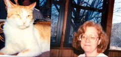 Mom and cat (Michael Vance1) Tags: woman wife girl granddaughter daughter mother family cat feline pet oklahoma
