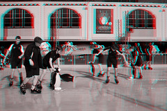 Sydney, Australia (DDDavid Hazan) Tags: sydney nsw australia anaglyph 3d bw blackandwhite bwanaglyph 3danglyph 3dstereophotography redcyan redcyan3d stereophotography stereo3d lunapark sydneyharbour