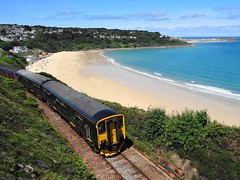 St Ives Bay Line (andyc20050) Tags: gwr carbisbay stives cornwall class150 150233 scenic dmu branchline beach