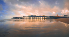 Panoramic Pier ... (Please view in Full Screen) (aquanandy) Tags: panorama nikond7000 nikon nikonflickraward nikonuk nikonuser nikonflikraward uk uktourism ukbeach sunset pier hastings sussex reflection orange sky water sea photoshop stiched beautiful follow sigma1750 sigma manfrotto followifyoulike followme seaside seascape
