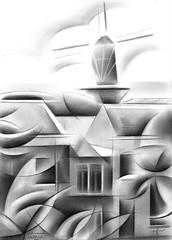 Schiedam 21-08-16 (for sale) (corne.akkers) Tags: akkers arbre artista arts black bleistift boom cityscape clair clairobscur corne crayon cubismo cubistic dark den donker dutch fine grafiet hague hatch holland impressionism kubistisch kunst la landscape licht light nederland nederlands netherlands obscur pencil portrait realism sanat schiedam seni south white zuidholland  cubiste potlood southholland  kubisme  kubist     art roundism rondisme