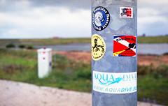 Divestickers (Arne Kuilman) Tags: canon 500n analogue film scan kodak 4009 kodacolor epson zeeland nederland netherlands stickers diveclubs diving duiken scubadiving