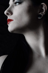Light Touch (coollessons2004(almost completely off)) Tags: krystalsmith red woman beauty beautiful lips