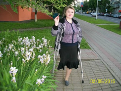 amp-1123 (vsmrn) Tags: amputee women crutches onelegged