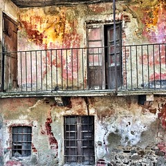 Storytelling (Lumase) Tags: weathered wall house abandoned