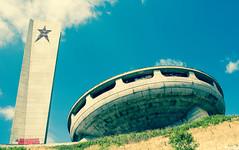 BUZLUDZHA-31 (RAFFI YOUREDJIAN PHOTOGRAPHY) Tags: buzludzha bulgaria spaceship soviet architecture ruin graffiti communist derelict abandoned relic distasteful building monument