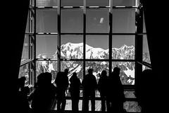 monsieur le mont-blanc... (pierobosco) Tags: monte bianco montblanc montagna mountain vetrata glass window vetta summit biancoenero bw nikon