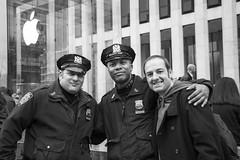 Walker (kellyhackney1) Tags: walker nypd newyorkpolicedepartment niceguys blackandwhite apple newyork 5thavenue applestore bigapple newyorkcity newyorkbaby citybreak manhattan piccy