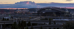 The sun has set on the Mariners (dr_stan3) Tags: sunset clouds colors safecofield seattle mariners sky canon eos 6d 70200mm f8 iso100 joserizalbridge sodo industrial outdoor city cityscape urban