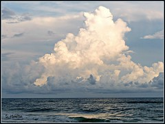 Clouds (Suzanham) Tags: nature beach ocean alabama gulfshores clouds waterscape seascape water