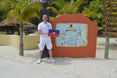 Ryan Janek Wolowski waving the Haitian flag at the Welcome to Labadee Labadie Haiti sign (RYANISLAND) Tags: haiti port labadee labadie republicofhait irpubliquedhati repiblikayiti ayiti hatihayti haitian haitiancreole creole portauprince hispaniola greaterantilles antilles sovereignstate caribbean caribbeanisland caribbeanislands island islands caribe beach royalcaribbean saintdomingue haitianhistory haitihistory visithaiti hati hayti republicofhaiti rpubliquedhati