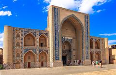 Ulugbey  Madrassah  Bukhara  Uzbekistan (By Hayan) Tags: ulugbey madrassah bukhara uzbekistan travel canon7d architecture outdoor building