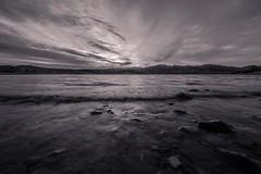 Telephone Cove (theRedOBject) Tags: blackandwhite landscape longexposure nikon d600 water lake sunset