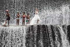 Runaway Bride-DSC_4528 (thomschphotography3) Tags: indonesia asia bali waterfall water bride wedding children streetphotography klungkung