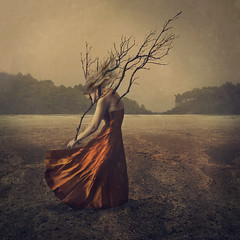 growth (brookeshaden) Tags: brookeshaden selfportraiture fineartphotography darkart desolatedesert branchesinskin treeperson conceptualart