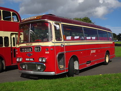 Bartons AEC Reliance Plaxton Panorama 866 HAL (East Midlands Transport Photography) Tags: showbus 2016 doningtonpark bartons aec plaxton 866hal