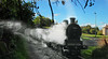 Steaming down the cycle path (beqi) Tags: 2016 cyclepath davidsonsmains edinburgh history photoshoppery railway steam