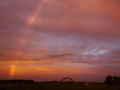 Rainbow over North (Skylark92) Tags: nederland netherlands holland amsterdam noord schellingwoude zeeburgereiland schellingwouderbrug sky rainbow regenboog clouds bridge