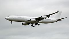 CS-TQY - Airbus A340-313X - LHR (Seán Noel O'Connell) Tags: cstqy airbus a340313x a340 lhr hifly 27l heathrowairport ly315 elal